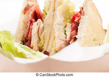 artisinal clubhouse sandwich for take out - food truck take...