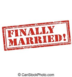 Finally Married-stamp