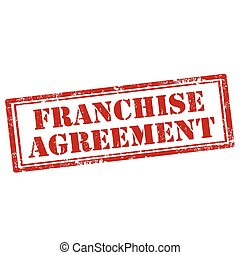 Franchise Agreement-stamp - Grunge rubber stamp with text...