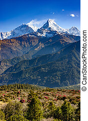 The Annapurna South in Nepal - The Annapurna South,...