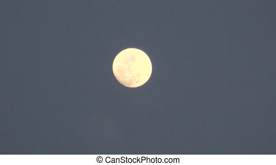 Full Moon at Dusk or Dawn
