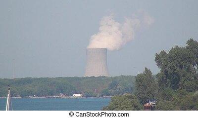 Nuclear Plant Near Lake