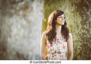 Young woman spring portrait