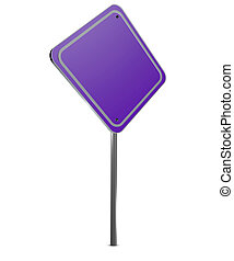 Image of a blank  sign