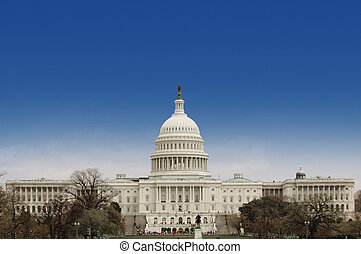 US Capitol facade - United States Capitol in Washington DC...
