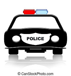 Police Car - Police Patrol Car illustration over white...