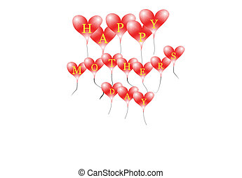 happy mothers day on red heart ball