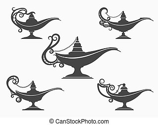 Aladdin lamp Clipart Vector Graphics. 622 Aladdin lamp EPS clip ...