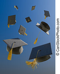 Graduation - A skyfull of mortar boards