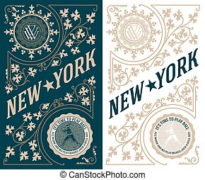 Premium Quality card. Baroque ornaments and floral details.