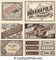 Old advertisement designs - Vintage illustration