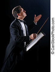 The Music Conductor - A photo of a music conductor wearing a...