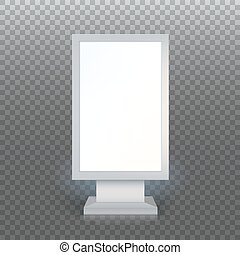 Blank advertising billboard - Digital Signage Blank...