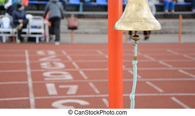 Athletics bell final round. Competitions athletes at the...
