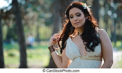 Young woman pose outdoor with natural light - Young woman...