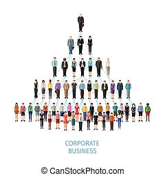 business pyramid concept
