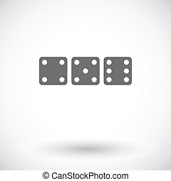 Craps flat icon - Craps Single flat icon on white background...