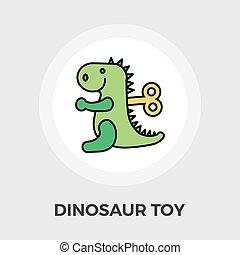 Dinosaurus flat icon - Dinosaurus icon vector Flat icon...