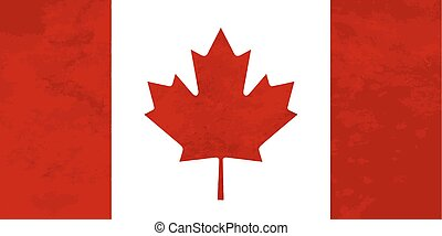 True proportions Canada flag with texture