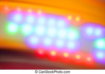 Blurred colorful disco dancing vivid night lights
