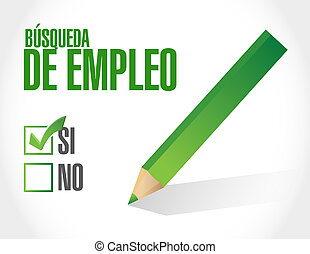 job search checklist sign in Spanish
