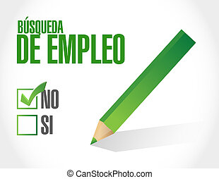 no job search approval sign in Spanish