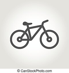 Vector black silhouette bicycle icon