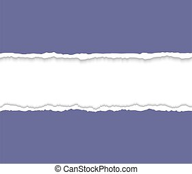 Torn paper frame for text Vector cardboard background with...