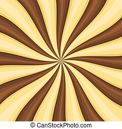 Chocolate Lollypop Candy Background with Swirling, Rotating,...
