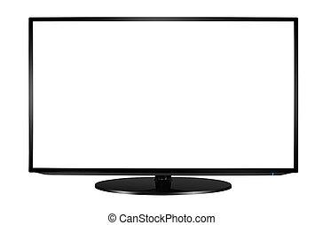 Modern blank flat screen TV set. - Modern blank flat screen...