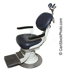 Retro Dentist Chair - Retro dental chair isolated on a white...