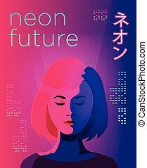 Neon futuristic poster
