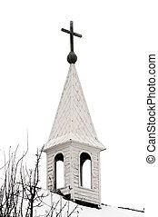 Old Country Church Steeple - Old country church steeple on a...
