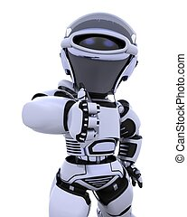 cute robot cyborg - 3D render of a robot
