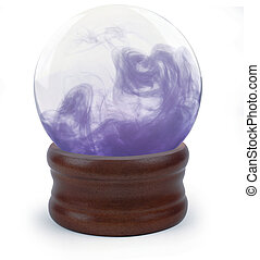 crystal ball on white - Crystal ball on white background...