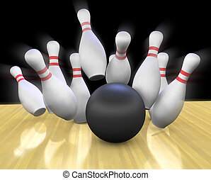 Bowling Strike - This is a 3d render of a bowling ball...