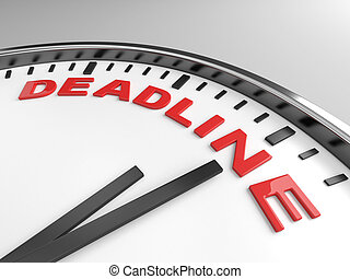 deadline - Clock with words deadline on its face