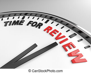 Time for review - Clock with words time for review on its...
