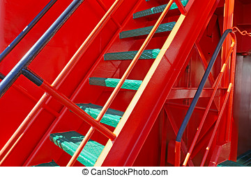 fragment of the ladder to the deck of the icebreaker