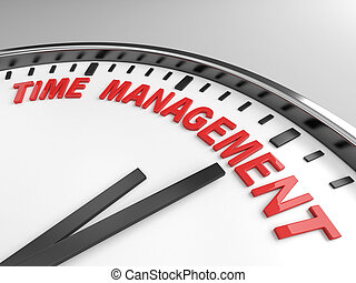 time management - Clock with words time management on its...
