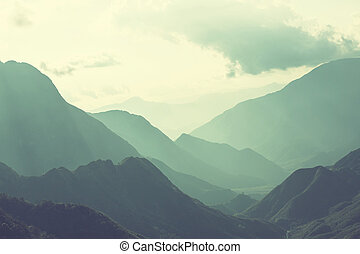 Mountains in Vietnam - Green steep mountains in Vietnam
