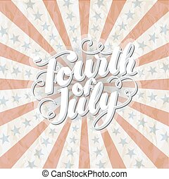 fourth of july Banner Rugged - 4th of July Vector...