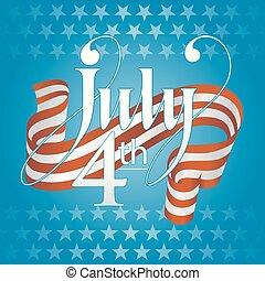 fourth of july Banner vintage