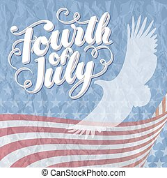 fourth of July Eagle Rugged - 4th of July Vector...