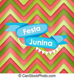 Festa Junina Holiday Background. Traditional Brazil June...
