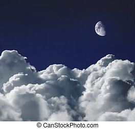 Dreamscape - Cumulus clouds shot from a high altitude...