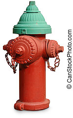 Fire Hydrant - Classic fire hydrant isolated on white with a...