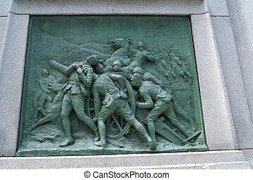 a, BOER, guerra, memorial, em, Canadá,