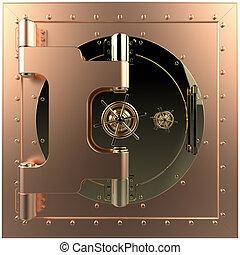 Vault door. 3D  - Render of the bank vault door 3D