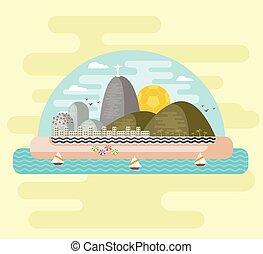 Rio de Janeiro, Brazil - Copacabana beach, Rio de Janeiro,...